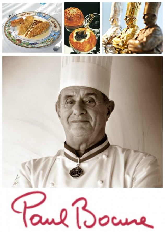 Pargo con escamas de patata, Sopa de trufas negras, Bocuse d'Or, retrato y firma de Paul Bocuse - imágenes seleccionadas de Internet