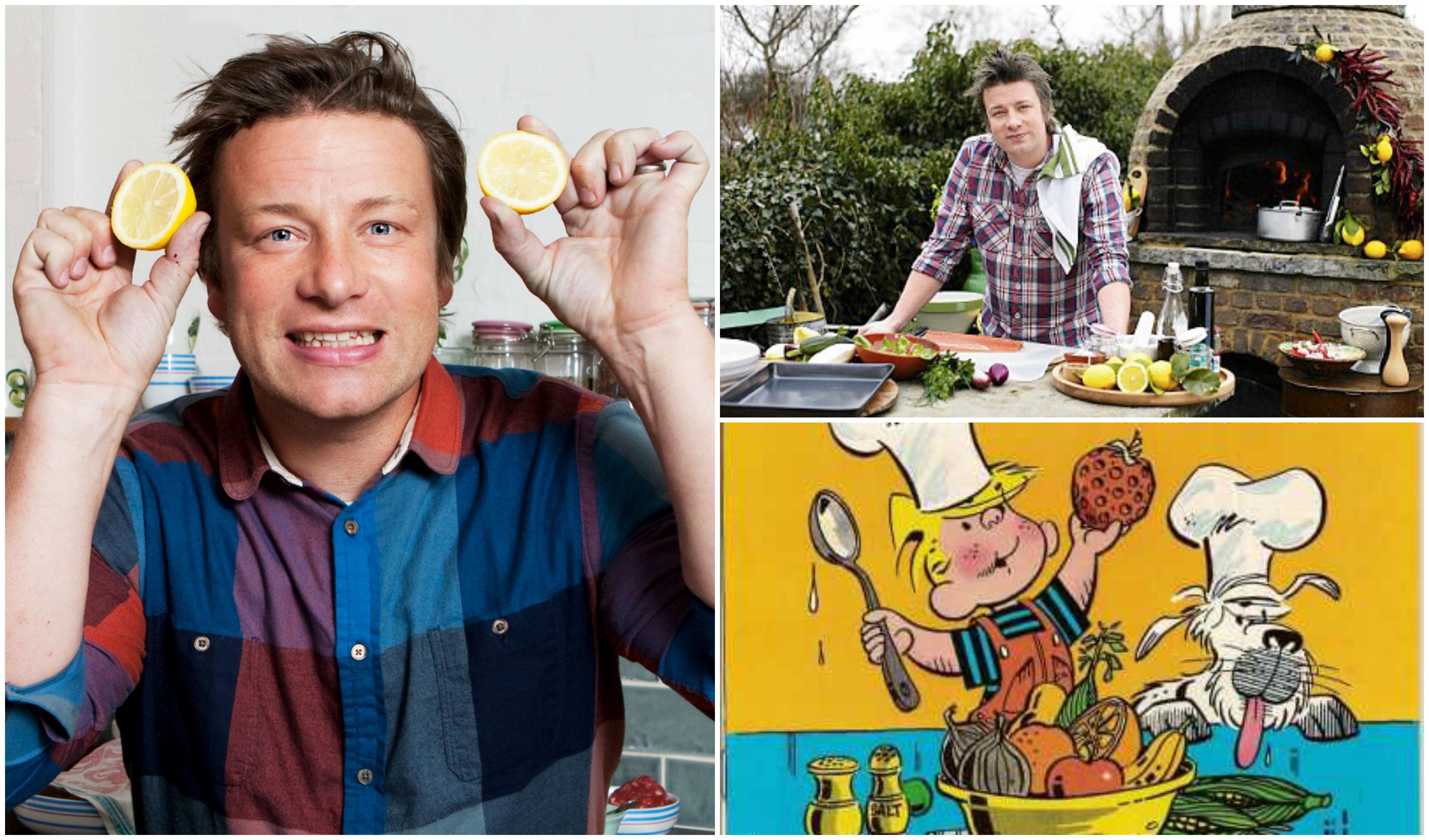 Jamie Oliver y Daniel el Travieso - imágenes de Internet